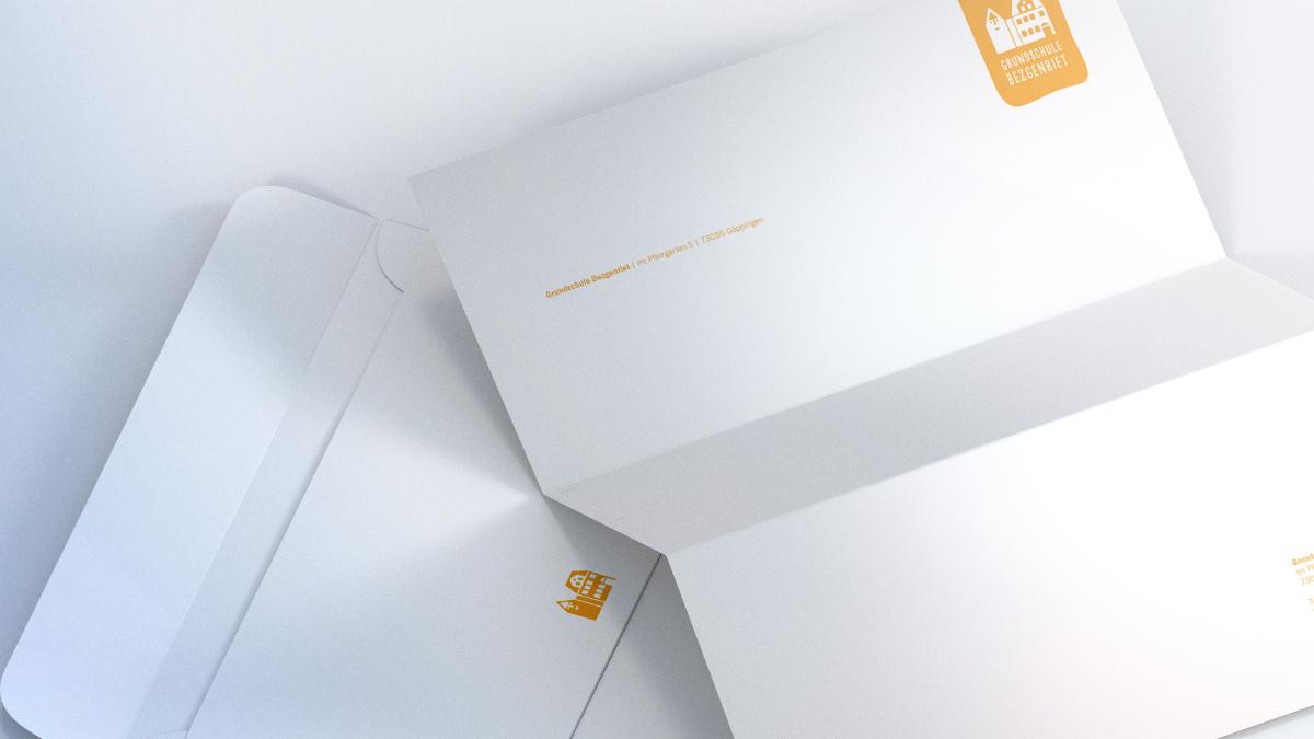 Briefbogen und Kuvert mit Branding