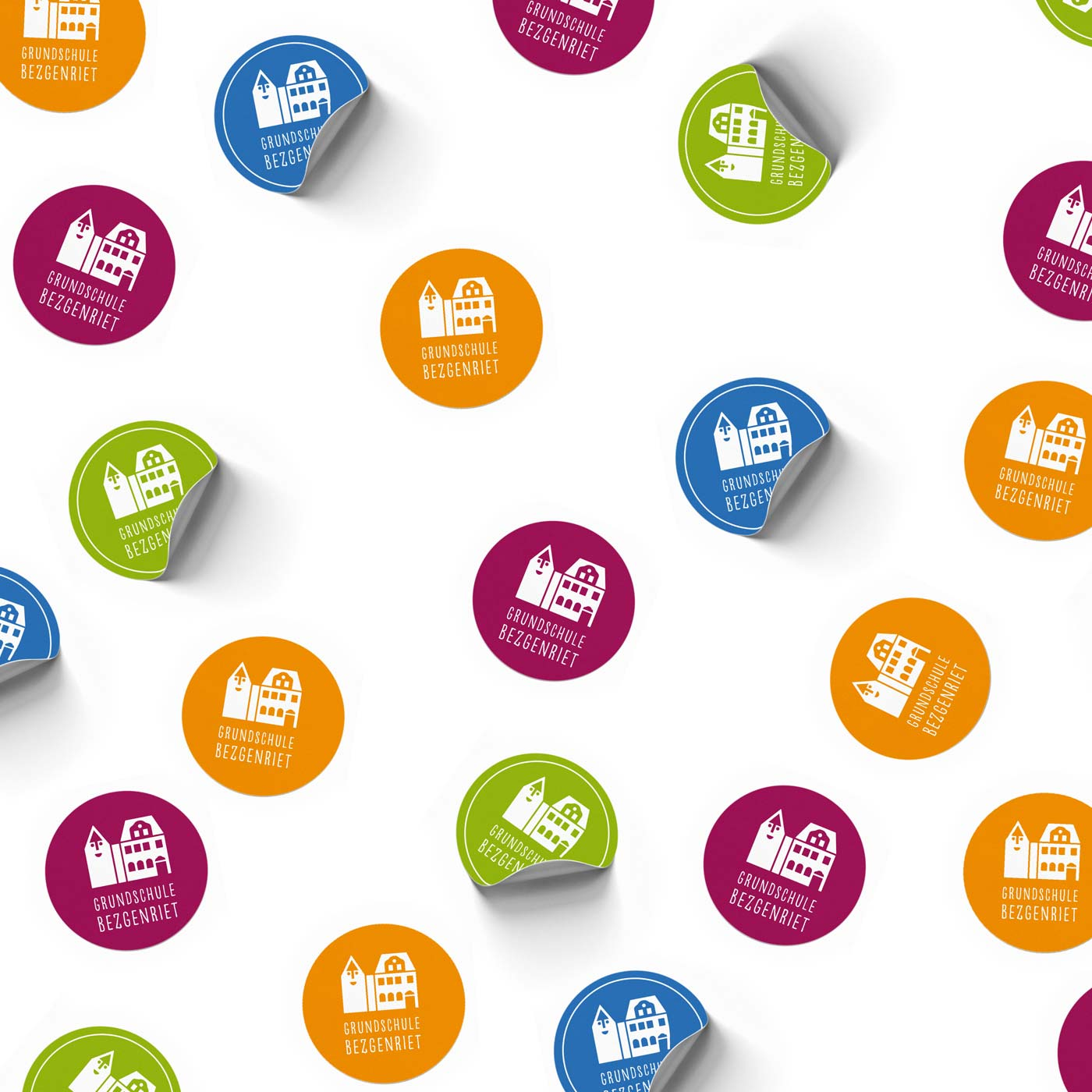 Sticker mit Logo der Grundschule Bezgenriet