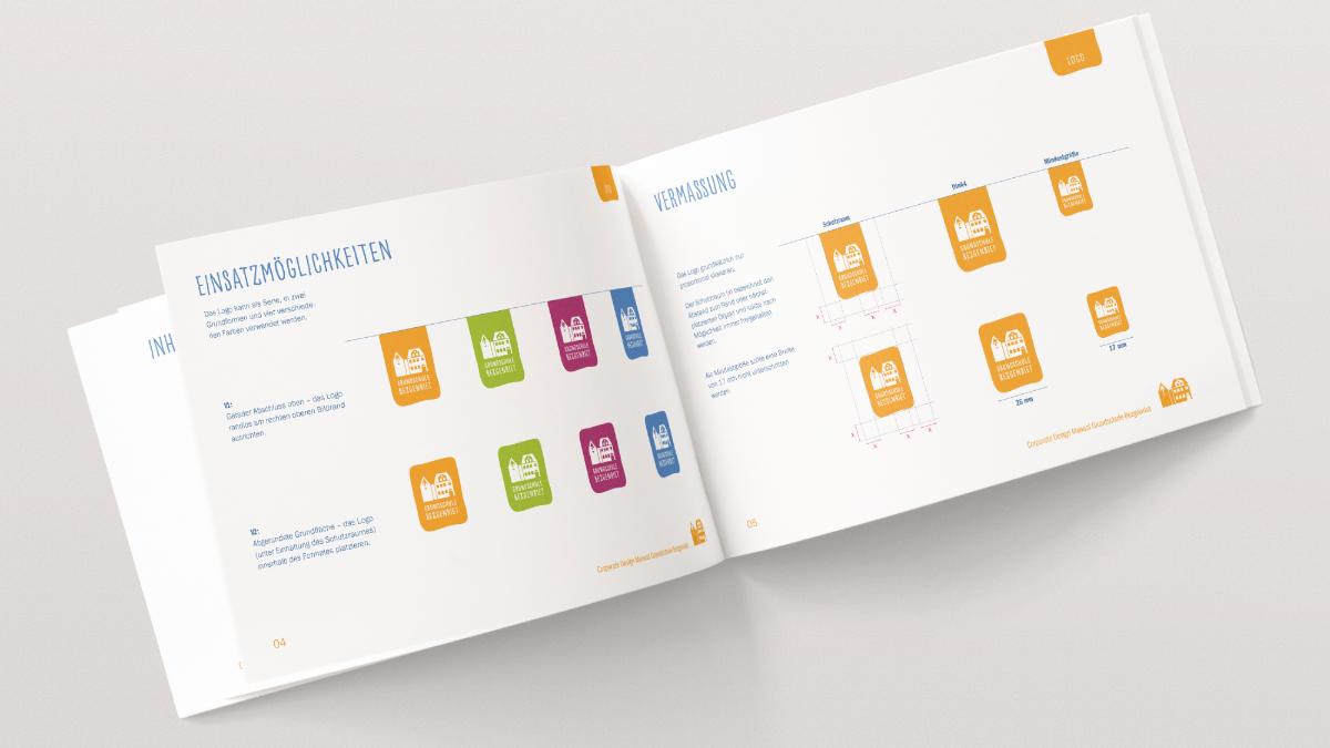 Auszug Wort-Bild-Marke aus dem Corporate Design Manual der Grundschule Bezgenriet