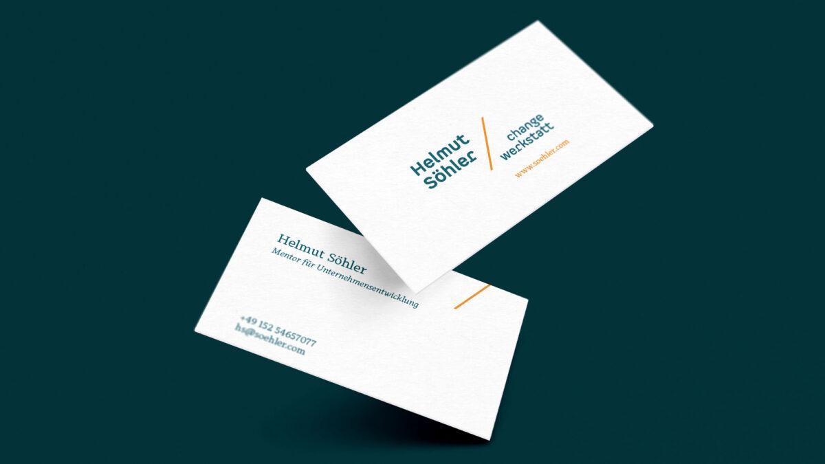 Visitenkarten Helmut Söhler change-werkstatt