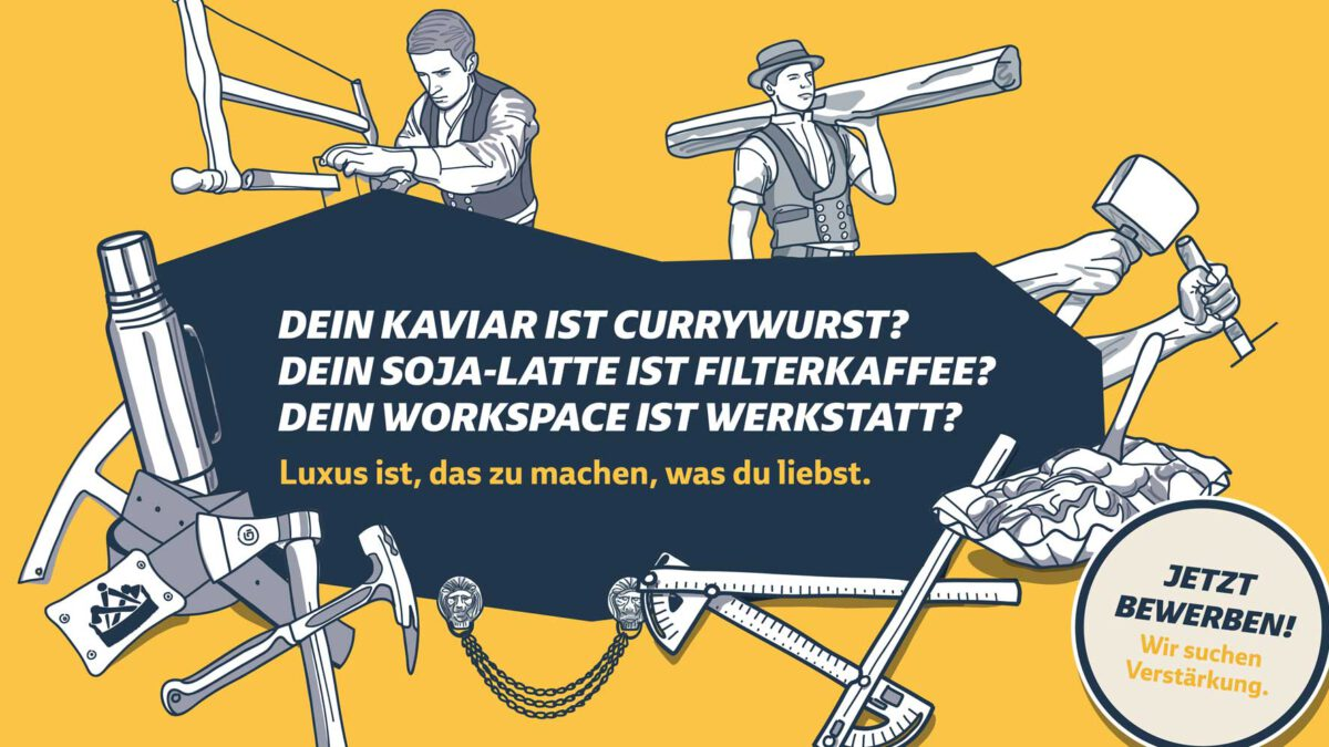 Kampagnenmoitiv VELUX Recruiting Kampagne Zimmerer
