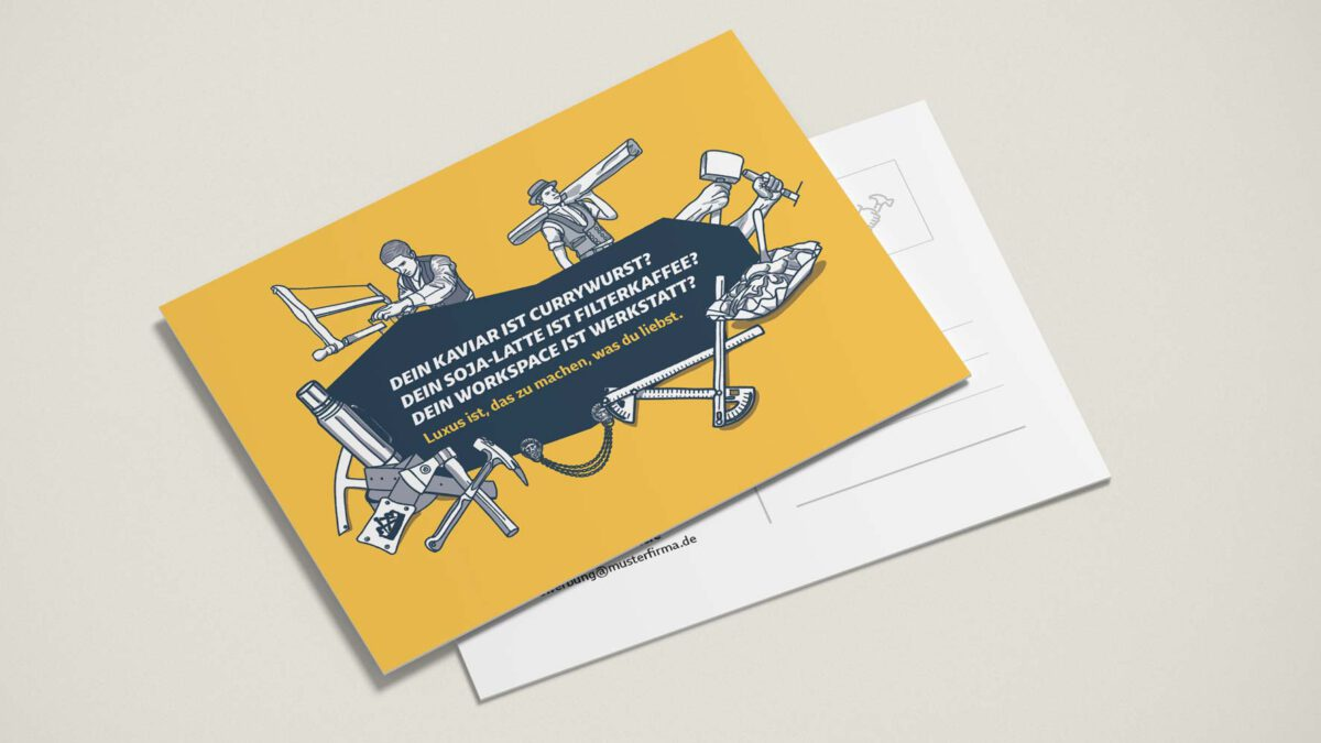 Postkarten VELUX Recruiting Kampagne Zimmerer