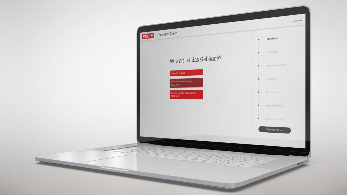 Online Tool VELUX Fördergeld-Check