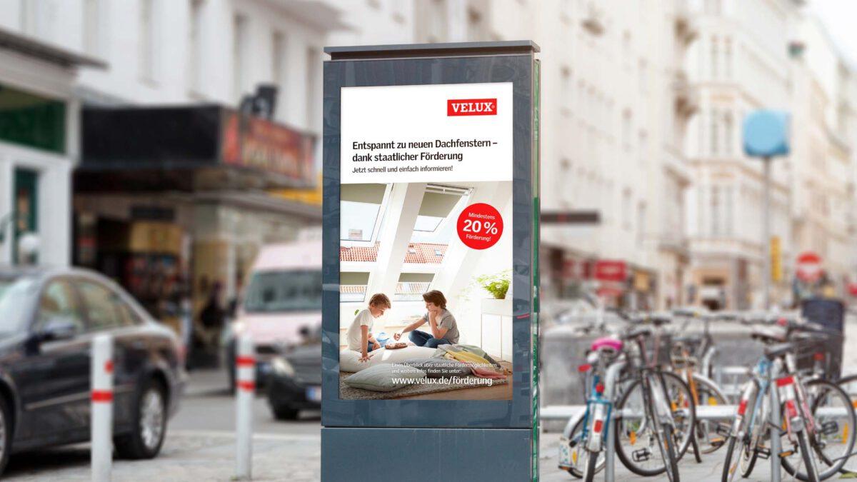 Citylight Poster VELUX Anzeige Fördergeld