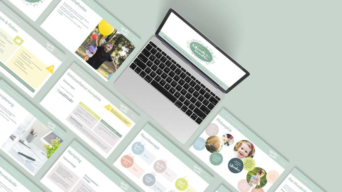 Präsentationscharts Businessplan
